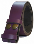 35mm Purple Snap Fit Leather Belt